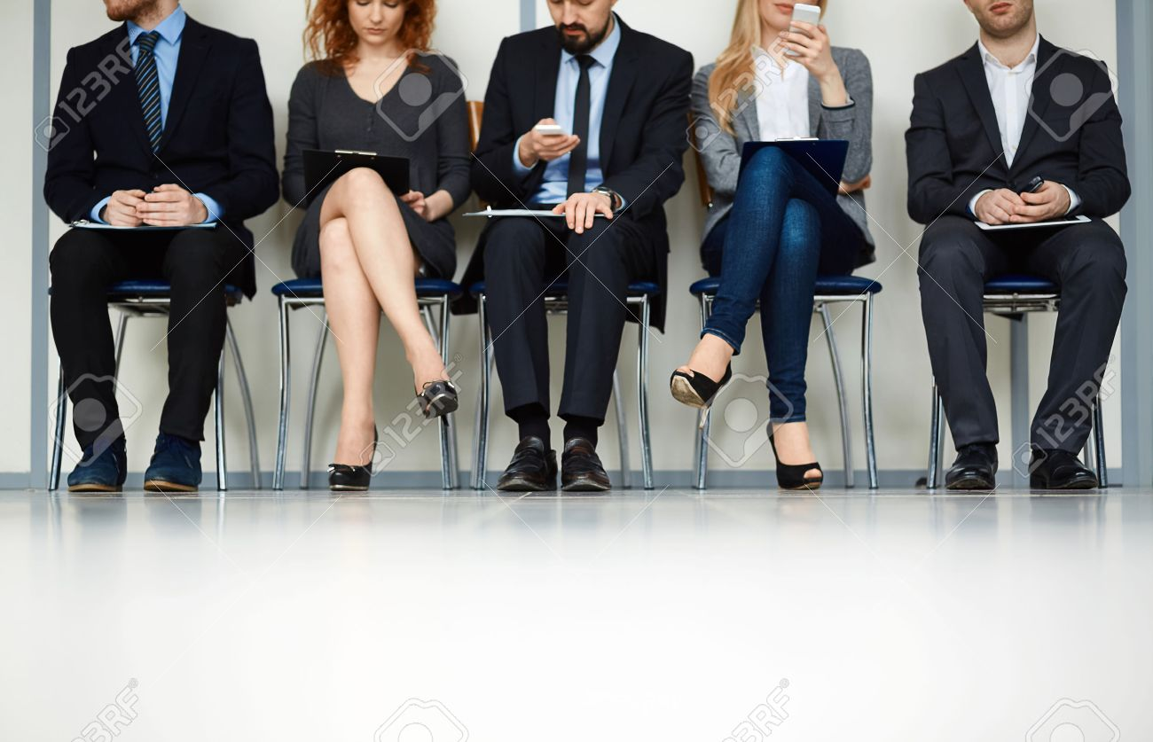job interview images stock pictures royalty job interview job interview line of young people sitting by wall while waiting for their turn for
