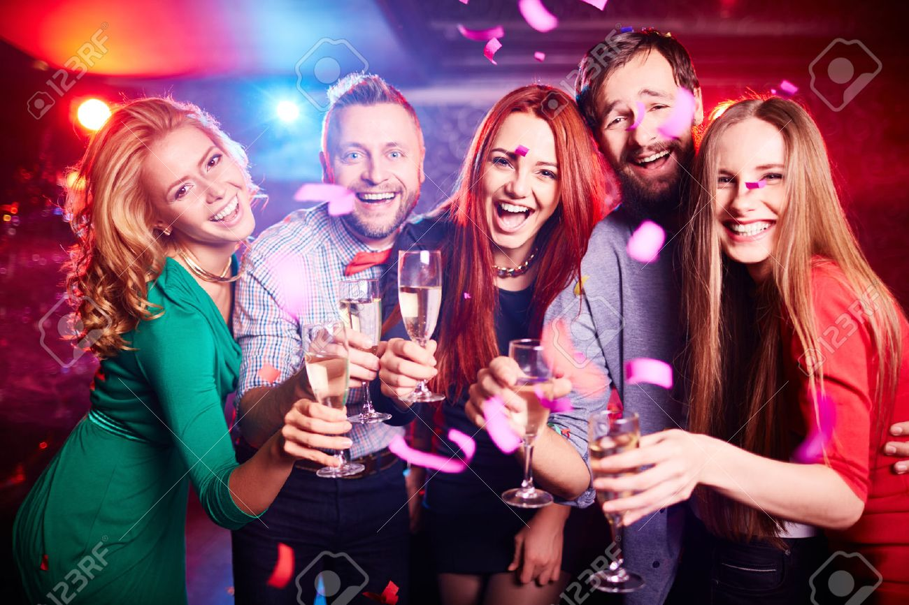 friends partying at night club stock photo picture and royalty free