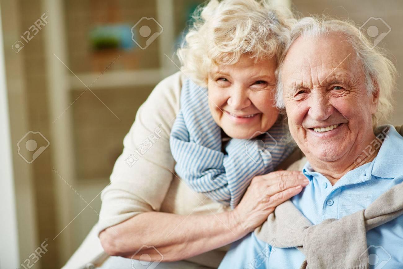 Elderly woman looking for man