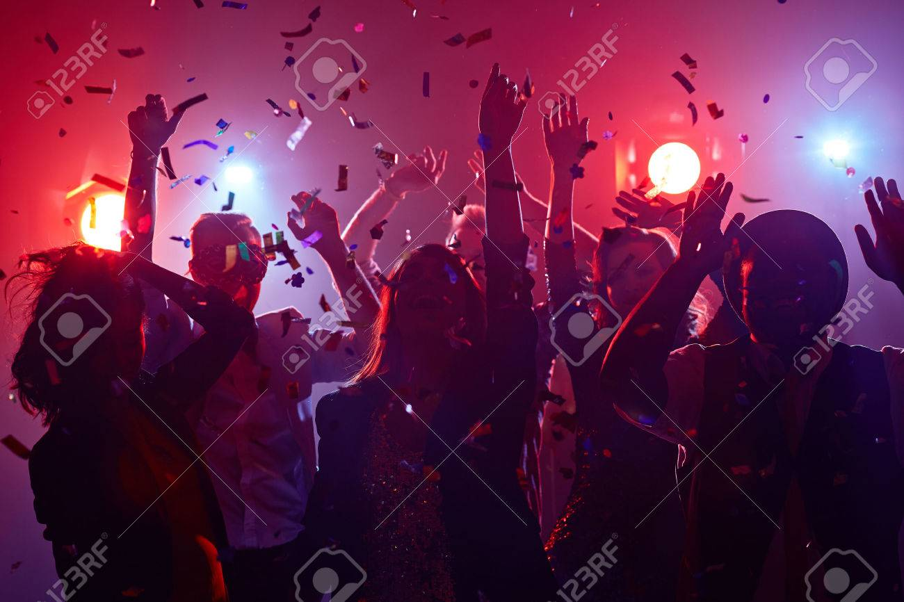 Young people dancing in night club Stock Photo - 49526410