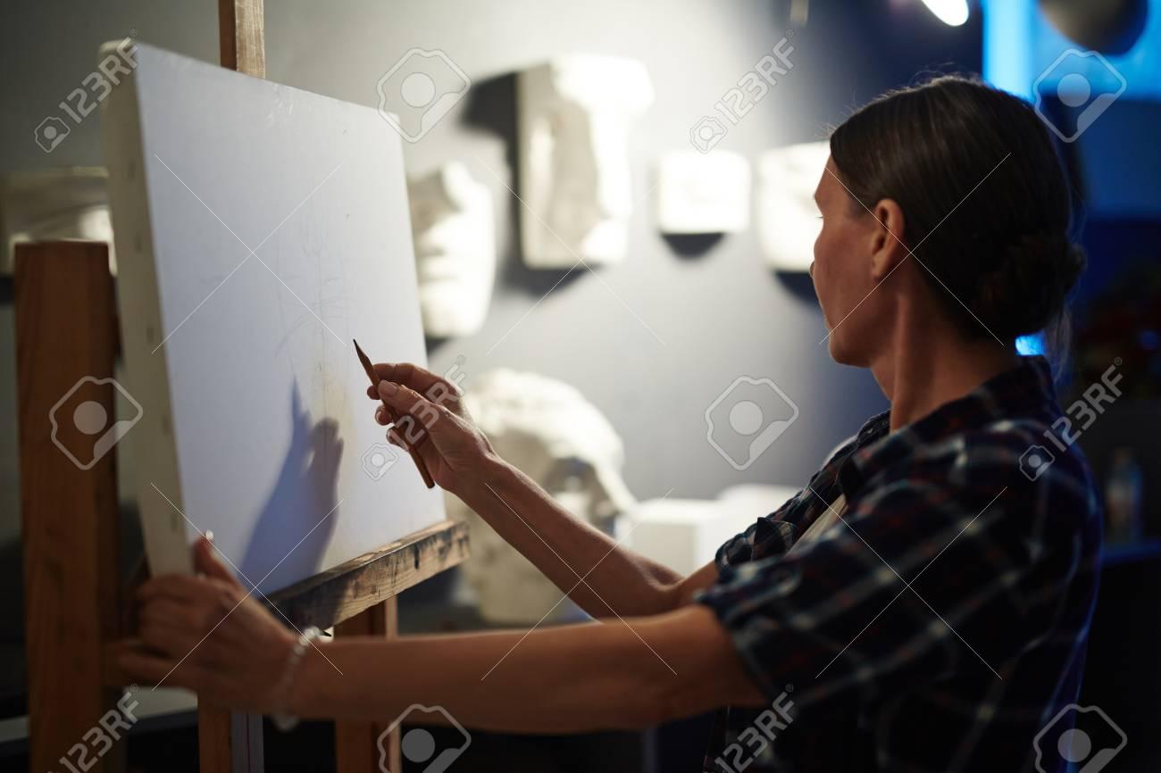 Mujer, Artista, Anatomía, Estudio, Arte, Clase Fotos, Retratos ...