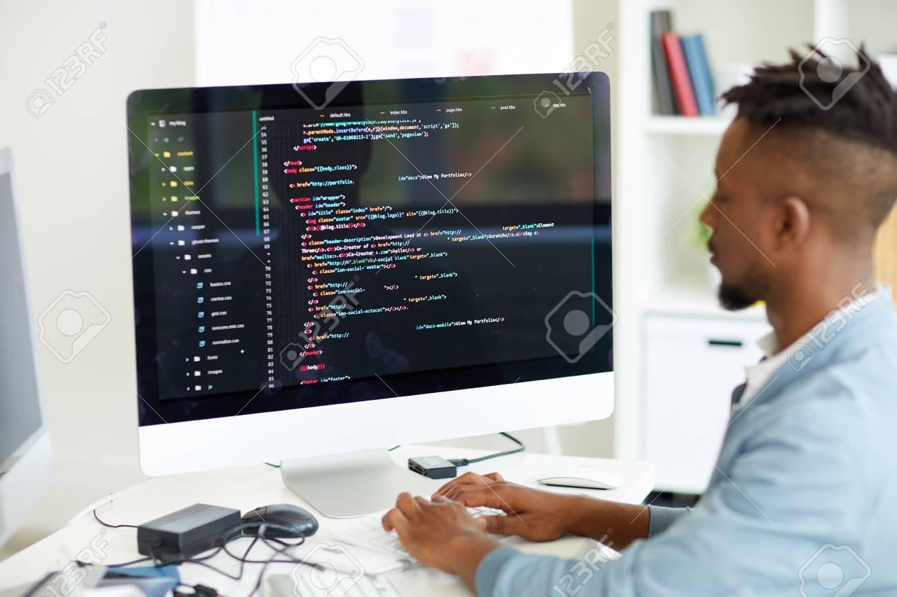 Web developer coding computer language - 105504167