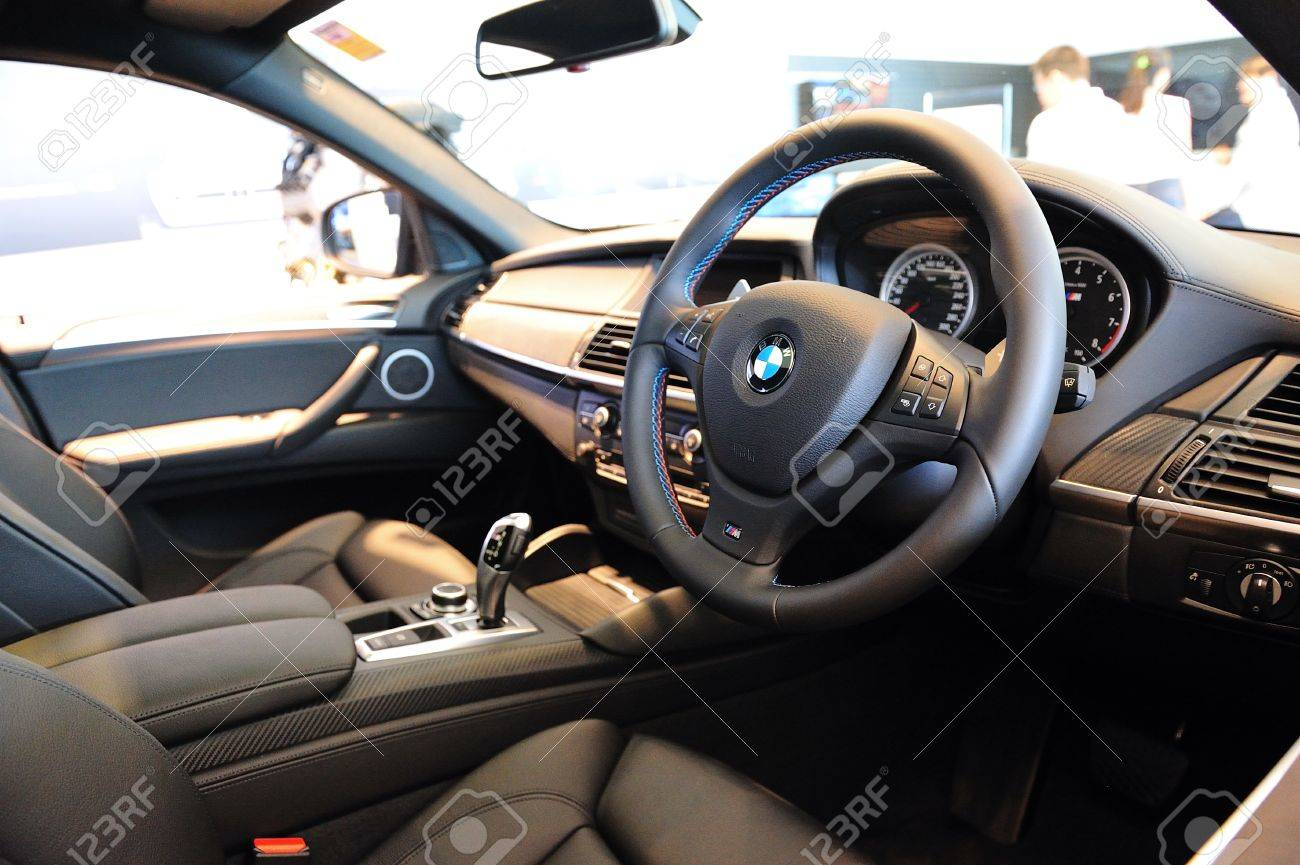 Interior Of Bmw X6 M At Munich Automobiles Bmw Service Centre