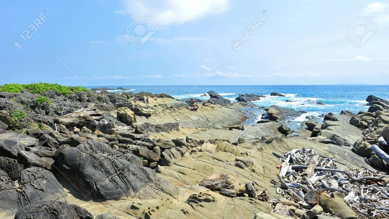 Little Yeliou limestone formation in Taiwan