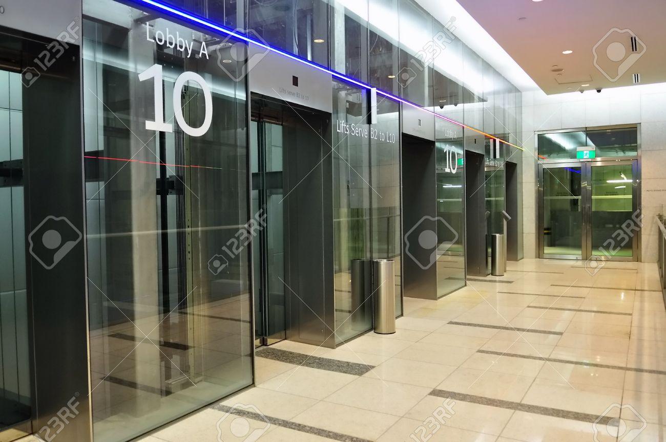 Lift lobby of a modern shopping mall Stock Photo - 13387068