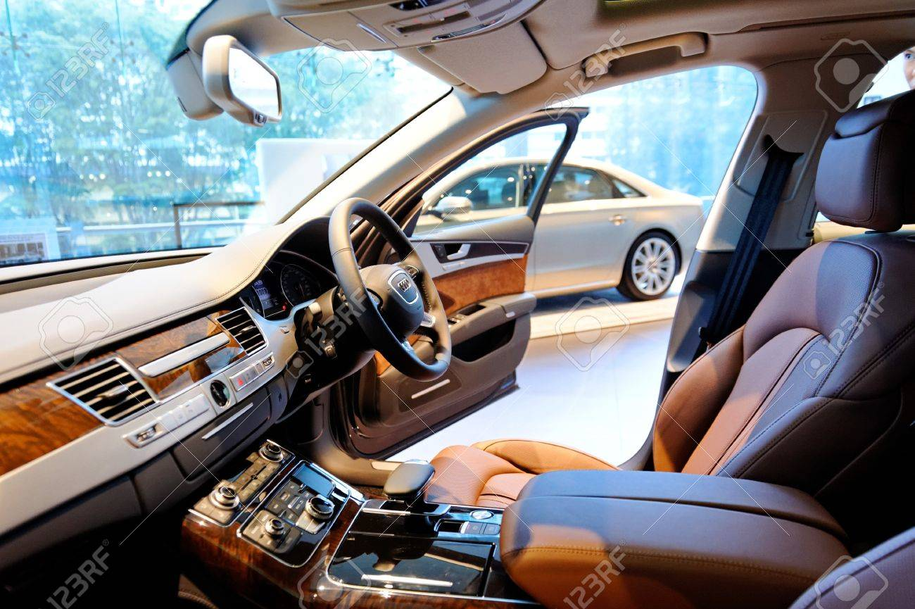 Interior Of Audi A8 Full Size Luxury Limousine At The Opening Stock Photo Picture And Royalty Free Image Image 17809551