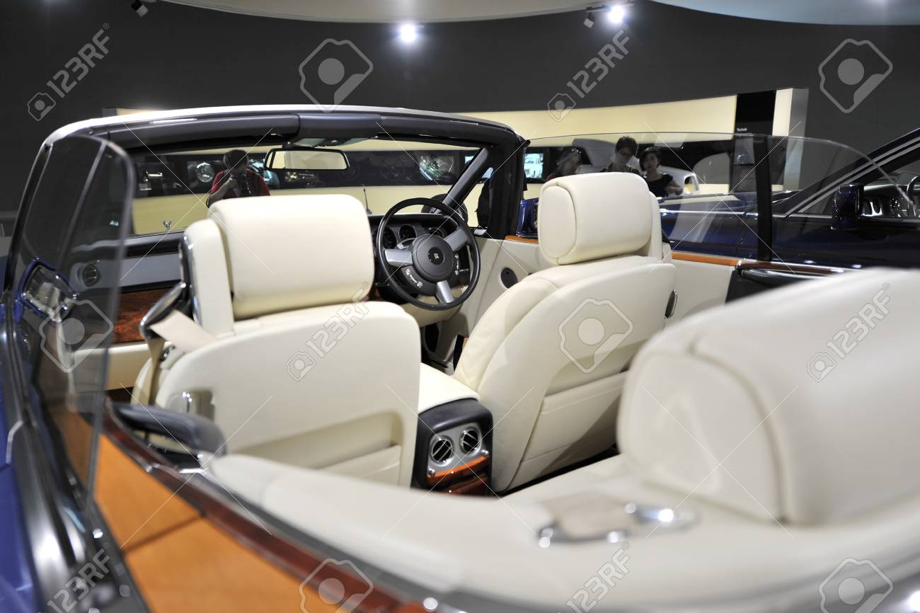 Munich June 8 Interior Of Rolls Royce Phantom Drophead Coupe Stock Photo Picture And Royalty Free Image Image 23673129