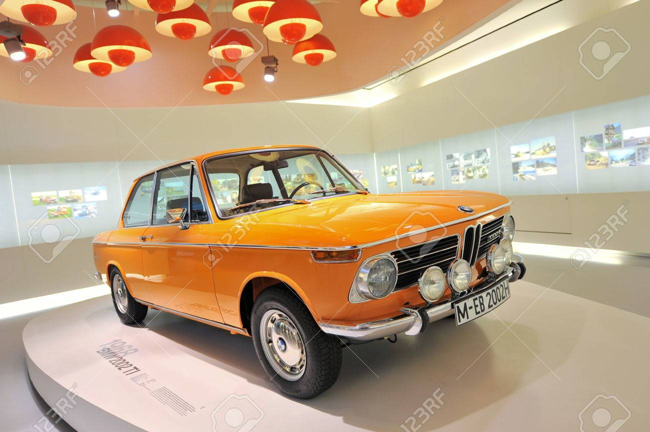 Munich June 8 Bright Orange Bmw 2002 Ti Classic Car On Display Stock Photo Picture And Royalty Free Image Image 23673152