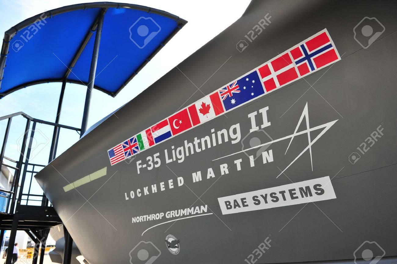Singapore February 12 Lockheed Martin F 35 Lightning Multi Role