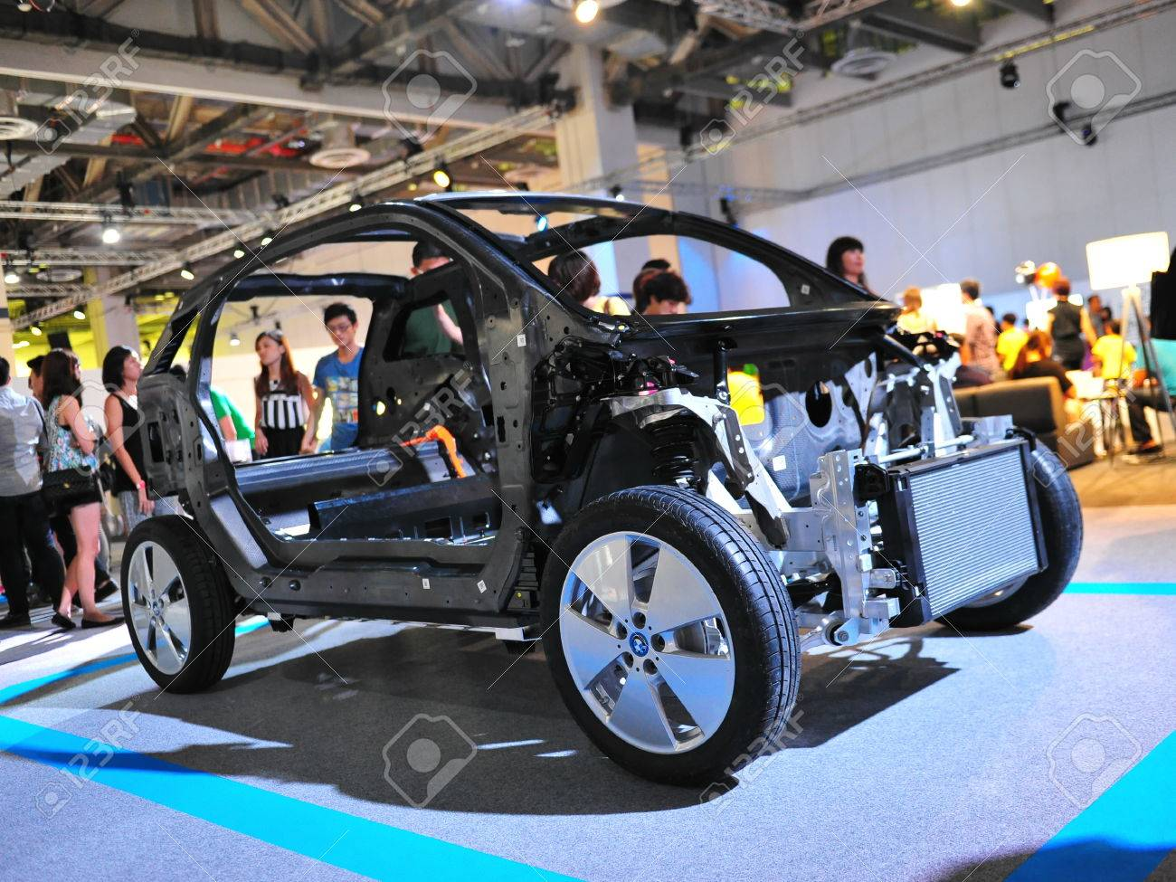 Singapore August 2 Chassis Of Bmw I3 Urban Electric Car On
