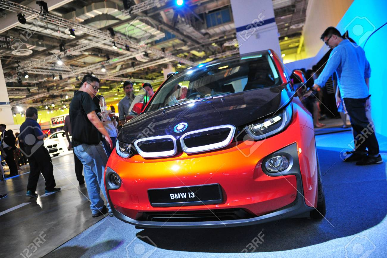 Singapore August 2 Bmw I3 Urban Electric Car On Display At