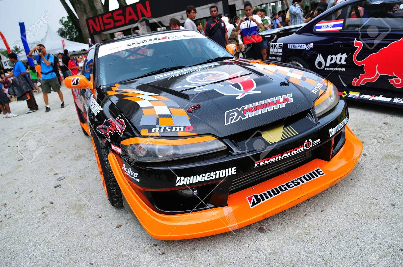 SINGAPORE   APRIL 24: Nissan Silvia Drift Car At Singapore Formula Drift At  F1 Pit