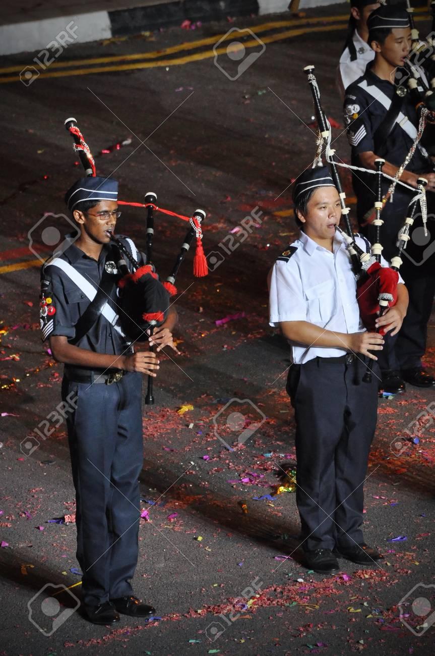 Singapur 31 De Enero Brigada De Actuacion De La Banda Boys En