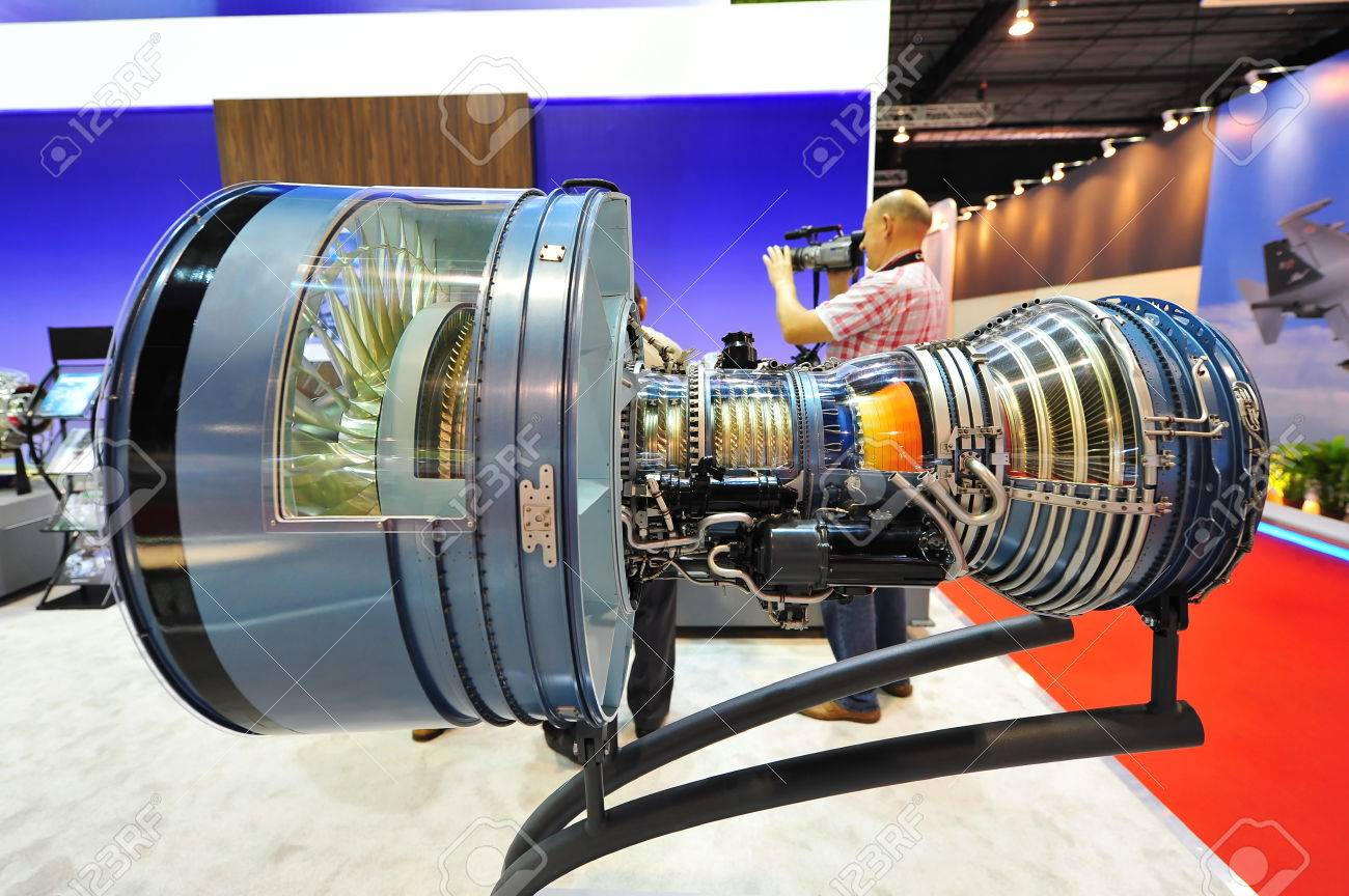 SINGAPORE - FEBRUARY 12: Pratt & Whitney displaying their PW4000