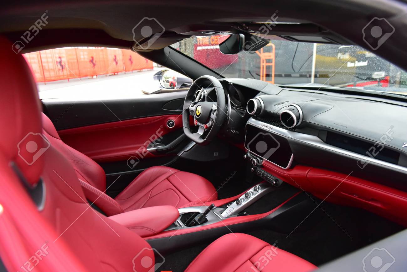 Hampton Downs New Zealand April 18 Interior Of Ferrari Portofino Stock Photo Picture And Royalty Free Image Image 104056988