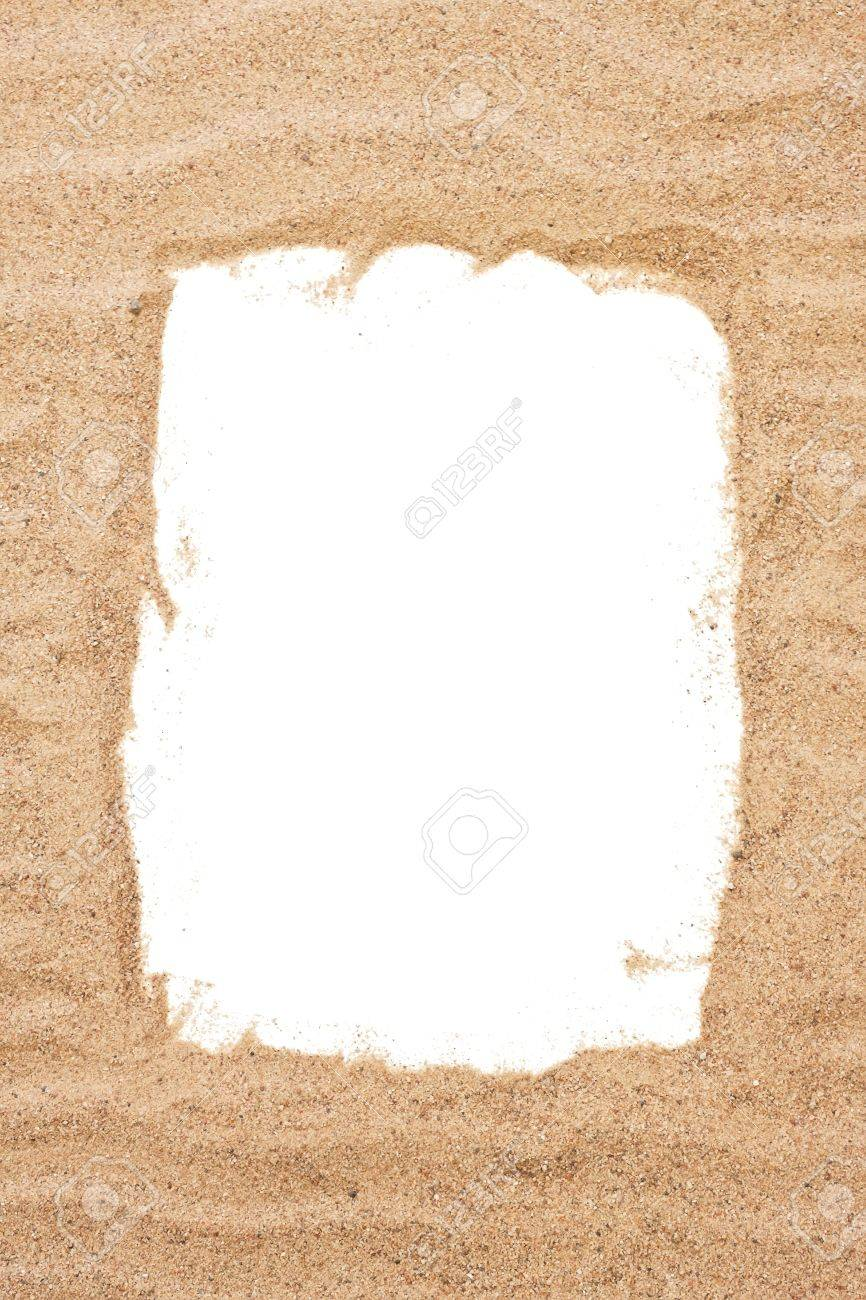 Sea Sand Frame, Holiday Concept Stock Photo, Picture And Royalty ...
