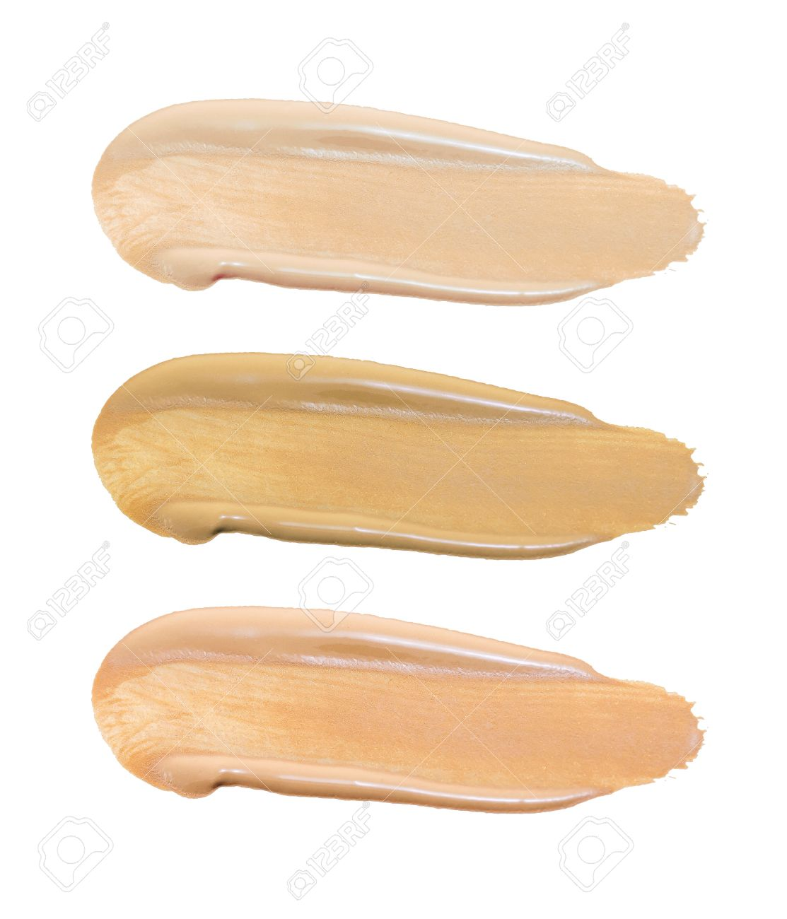 Set of foundation swatches isolated on white background - 41758145