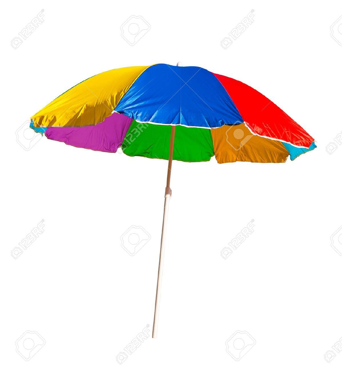 beach umbrella isolated on a white background - 41758436