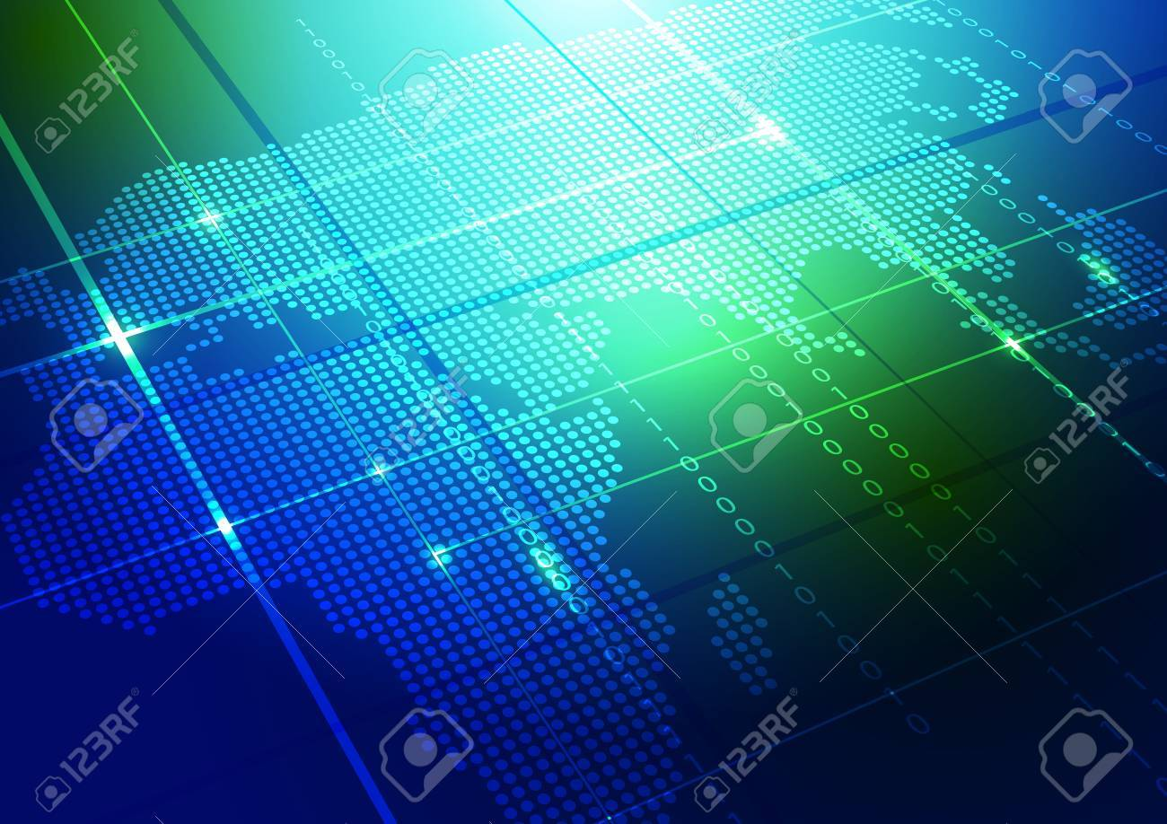 Abstract world map technology blue background ilustracin abstract world map technology blue background ilustracin vectorial foto de archivo 69054497 gumiabroncs Images