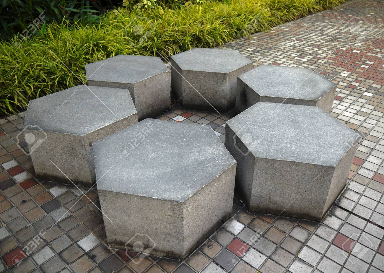 Picture of: Marble Stone Garden Bench In Public Park Stock Photo Picture And Royalty Free Image Image 74994197