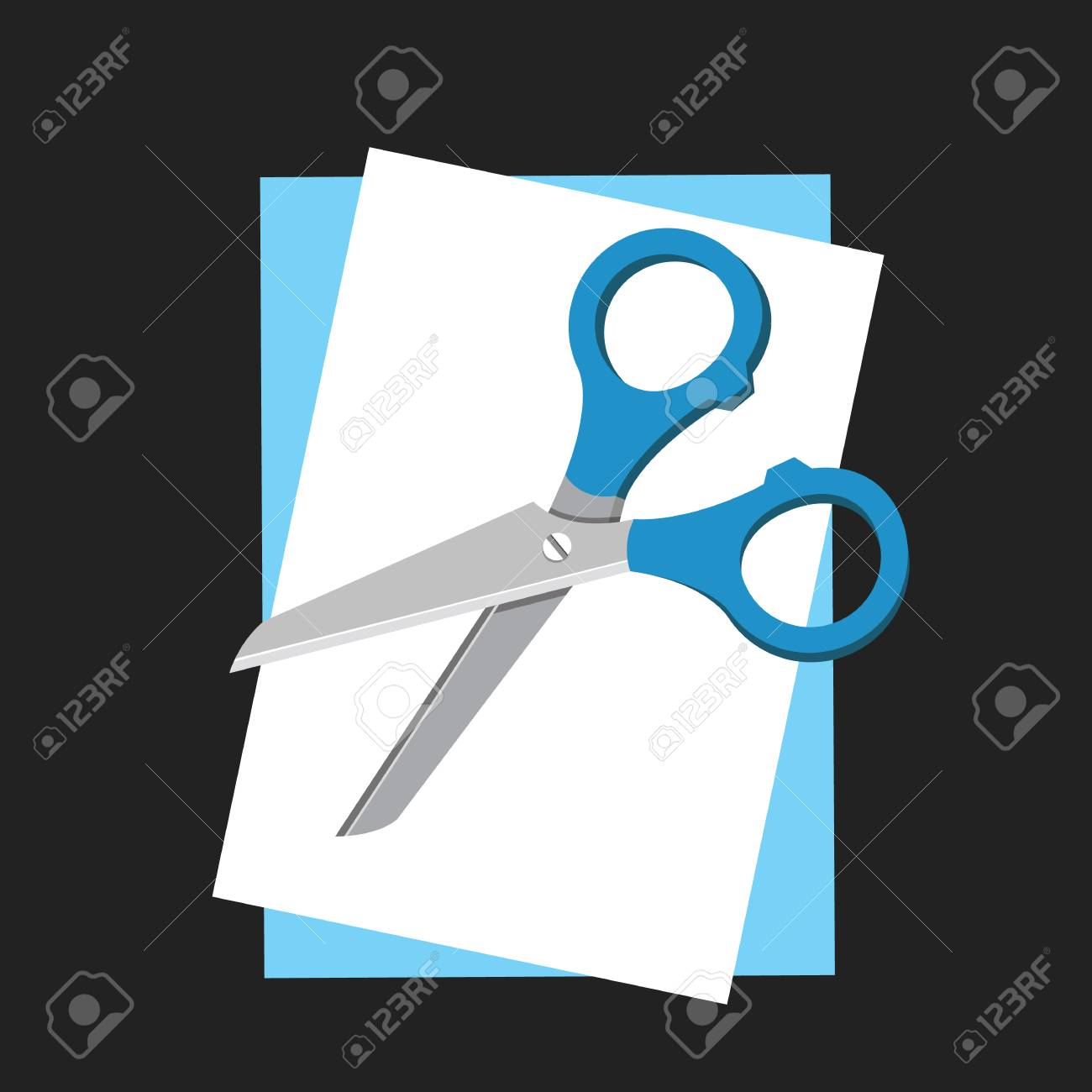 ector Sheets of Paper with Scissors Stock Vector - 22546002
