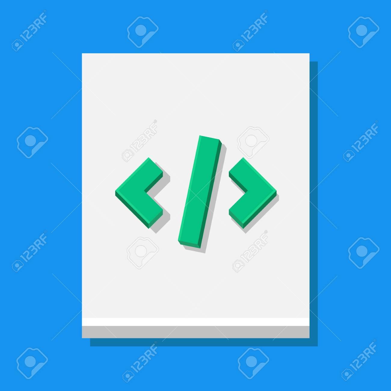 Vector Code Sheet Icon Stock Vector - 23971786