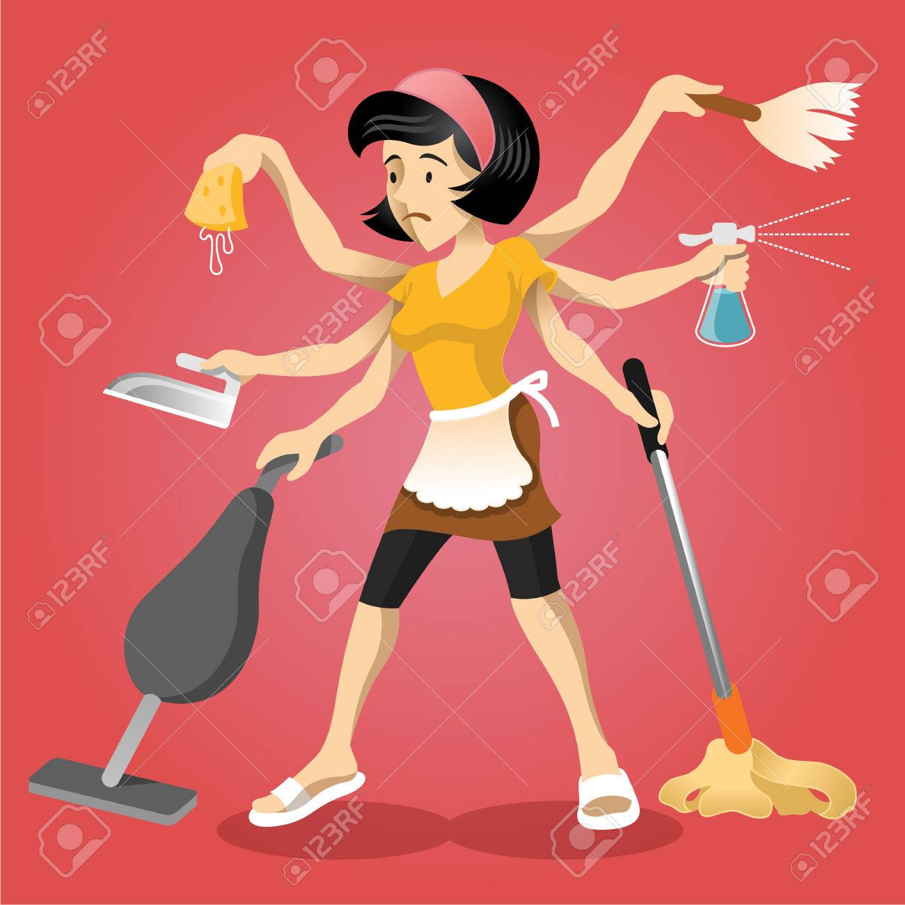 Housewife vector flat illustration - 36240820
