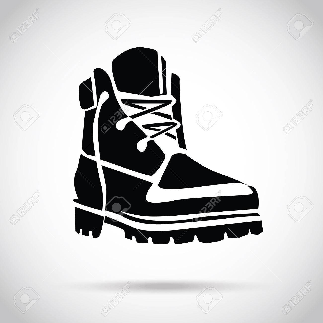 Black boot icon - 37352499