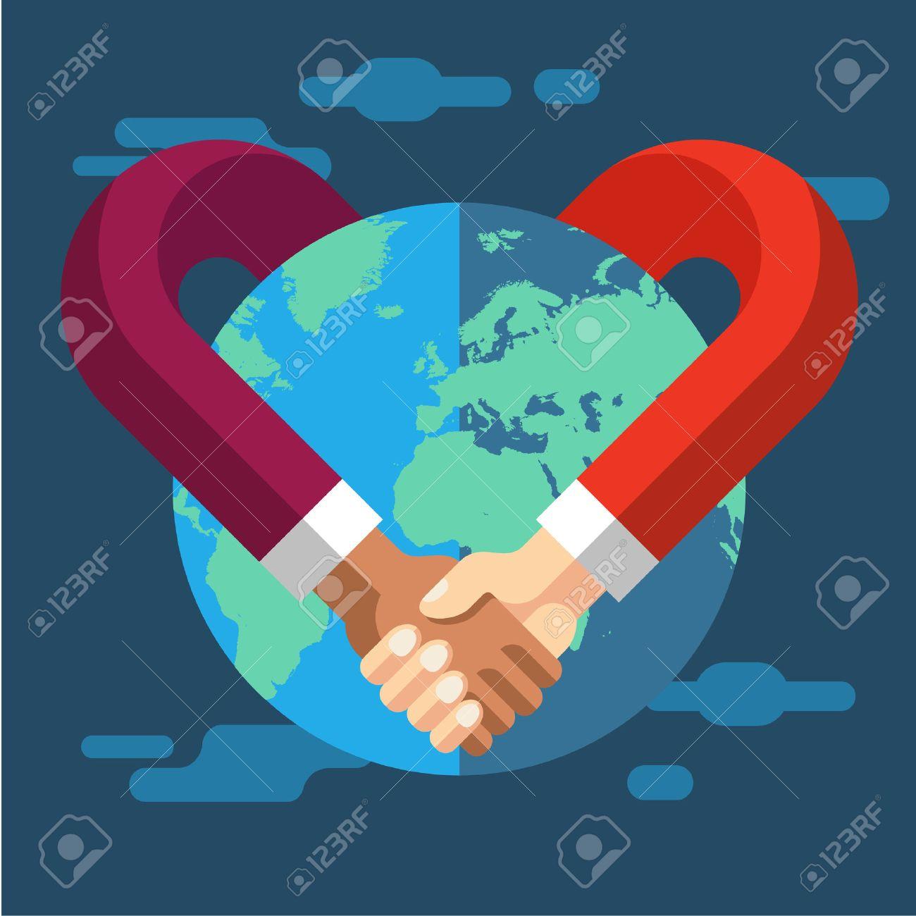 International Partnership. Vector flat illustration - 46350717
