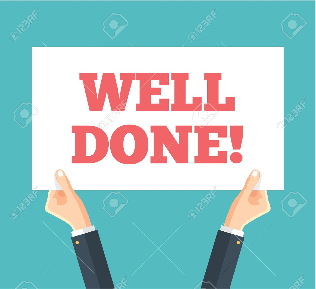 Well Done. Vector flat banner illustration - 52217650