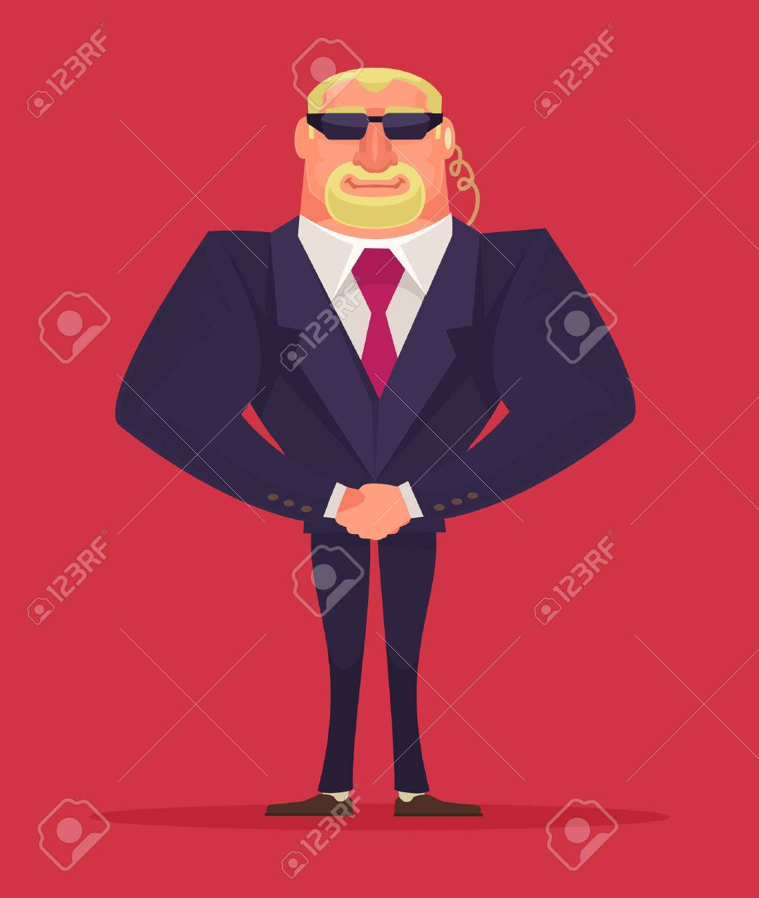 Face control. Security man. Vector cartoon illustration - 52702600