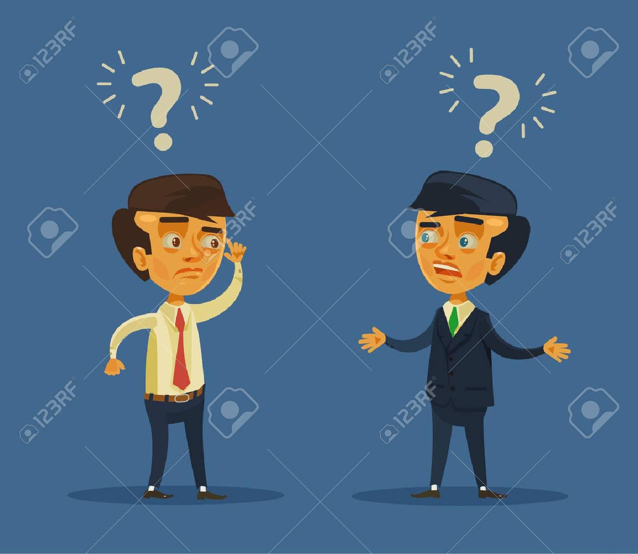 Business conflict. Vector flat cartoon illustration - 54960898