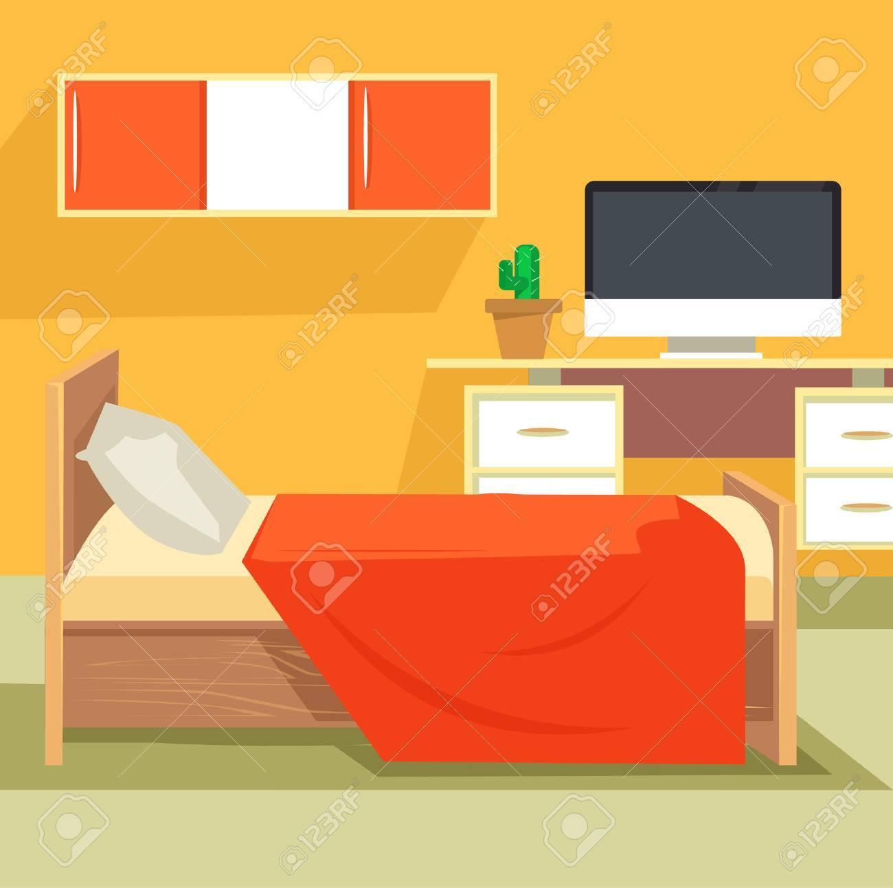 Schlafzimmer Unter. Schlafzimmer-Design. Schlafzimmermöbel. Orange ...