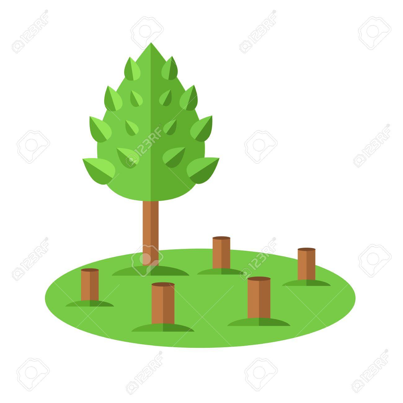 deforestation icon ecological natural problem vector flat cartoon rh 123rf com Deforestation Cartoons Pollution Clip Art