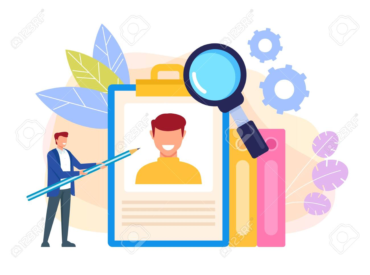 Human Resources Head Hunting Job Searching Concept Vector Flat Royalty Free Cliparts Vectors And Stock Illustration Image 127386894