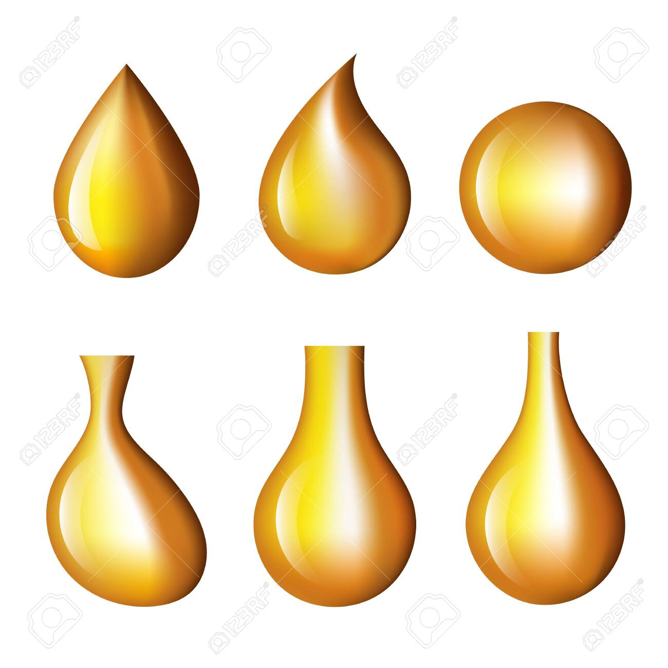 Oil drop isolated icon set. Vector graphic design isolated illustration - 131413284