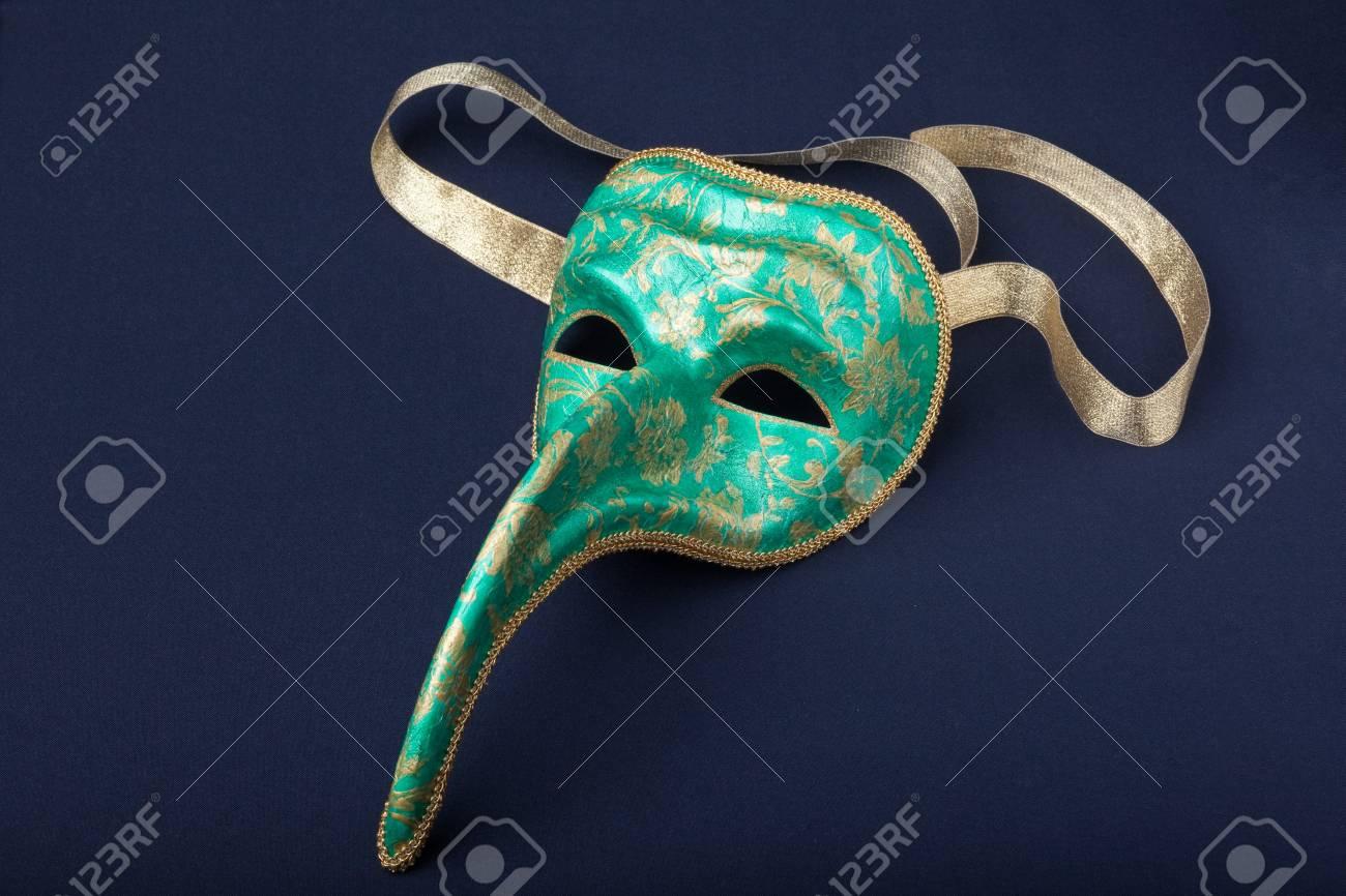 italy mask on a black background Stock Photo - 7226215