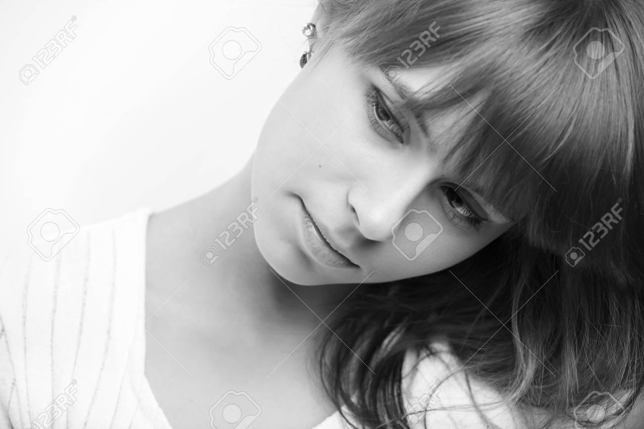Portrait of a beautiful female model on white background Stock Photo - 8417249