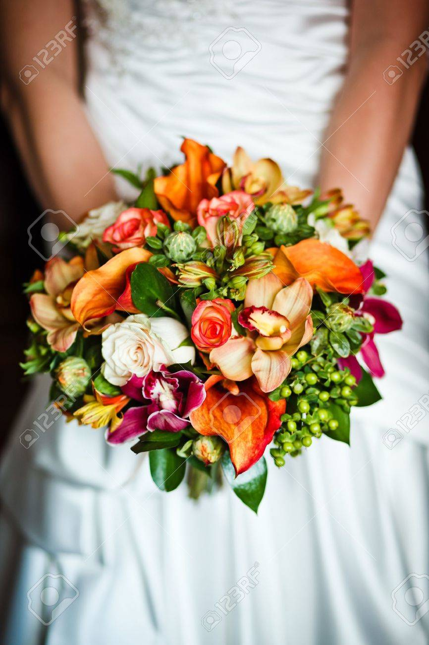 close up of wedding bouquet Stock Photo - 15359597