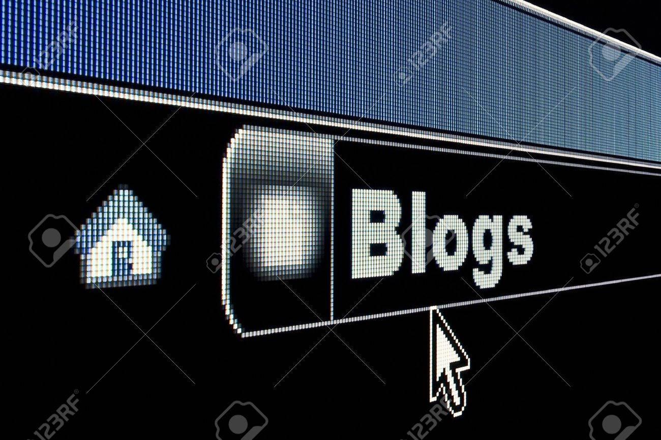 Blogs concept on an internet browser URL address - 4920284