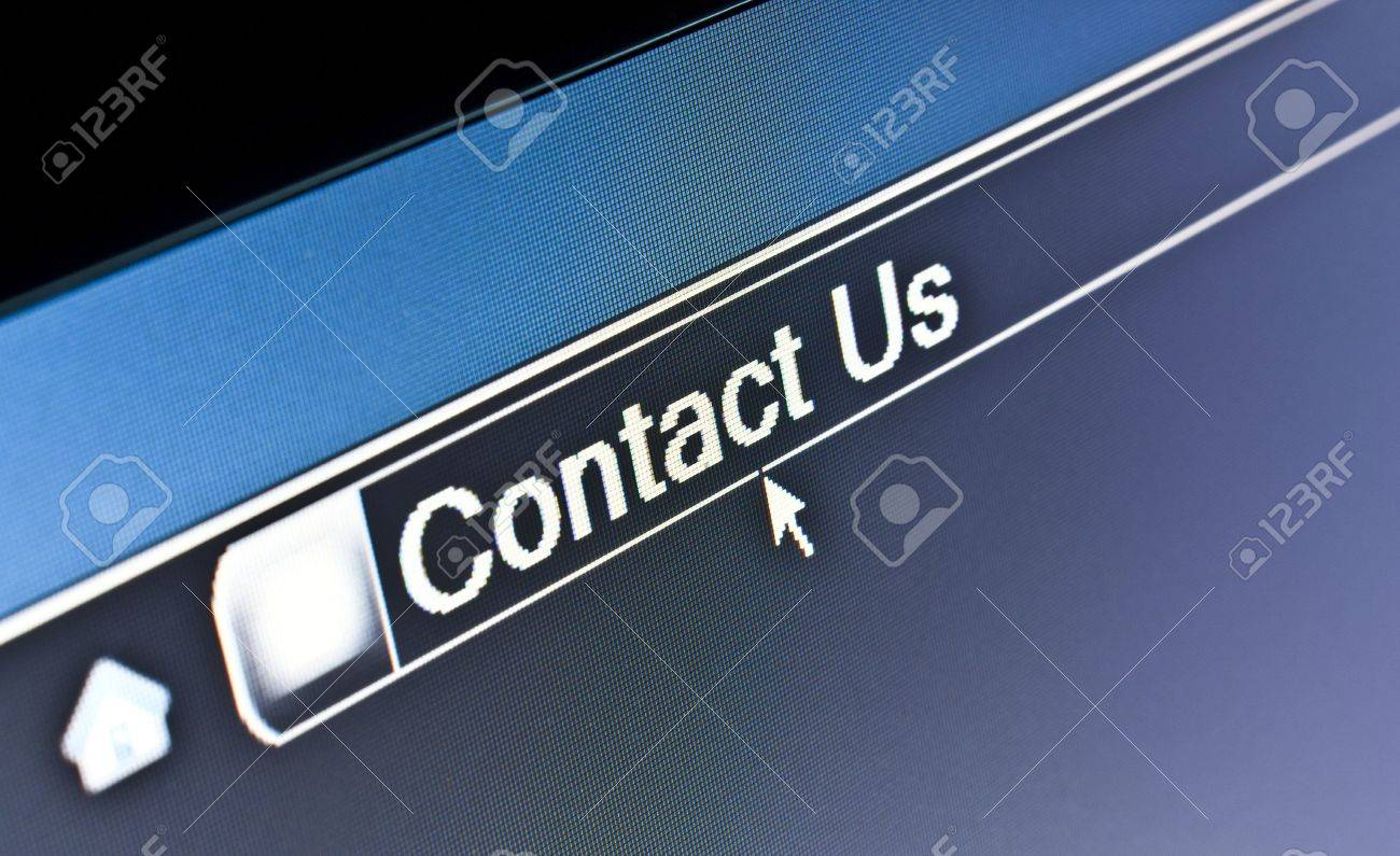 Internet browser concept for Contact Us webpage Stock Photo - 4920286