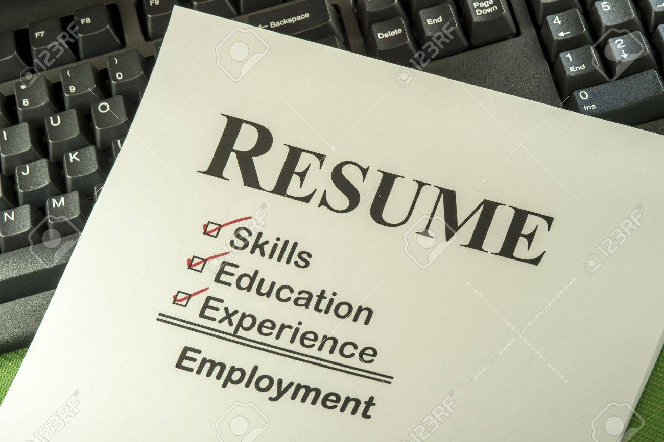 successful candidate resume requires skills education and stock photo successful candidate resume requires skills education and experience to employment