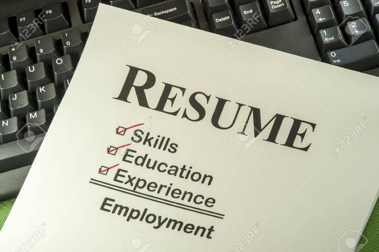 successful candidate resume requires skills education and stock photo successful candidate resume requires skills education and experience to employment