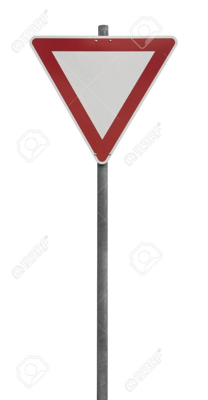 priority traffic sign isolated on white Stock Photo - 10914710