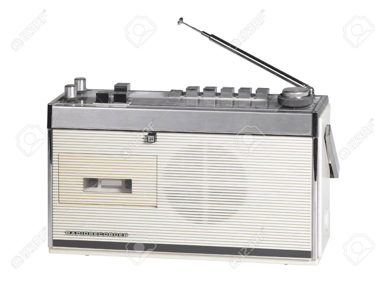 studio shot of a old nostalgic radio Stock Photo - 10914108