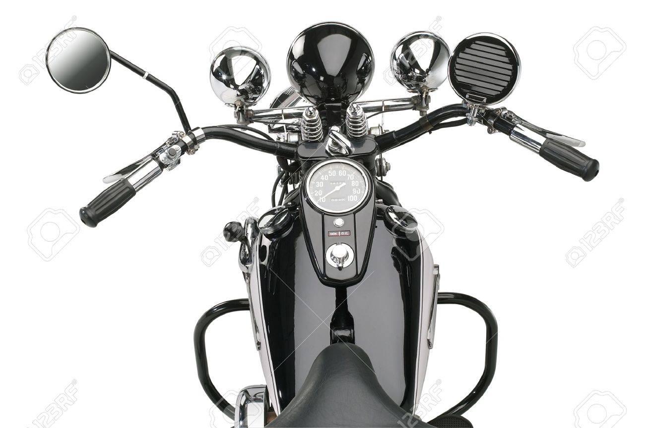 motorbike in white back Stock Photo - 10914263