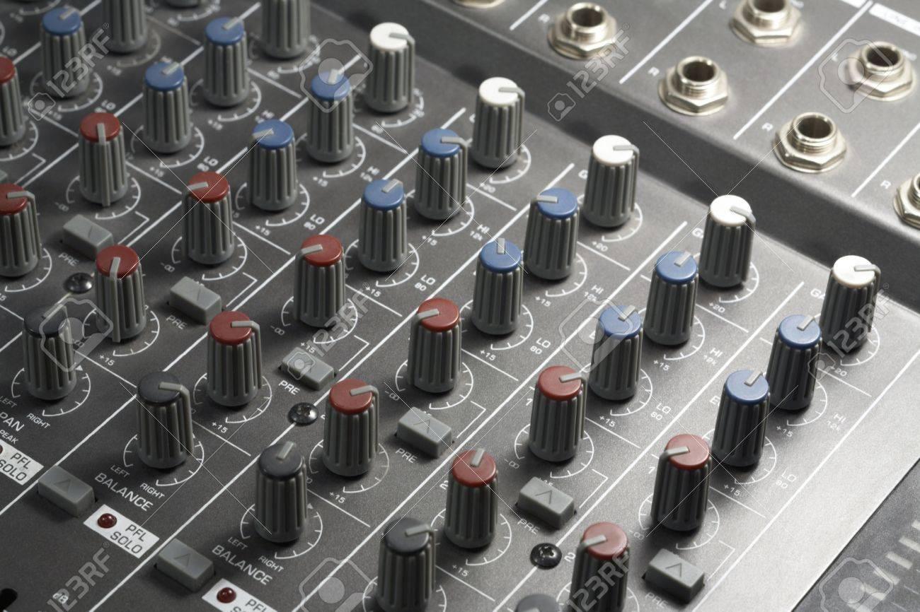 full frame detail of a studio mixer Stock Photo - 11049347