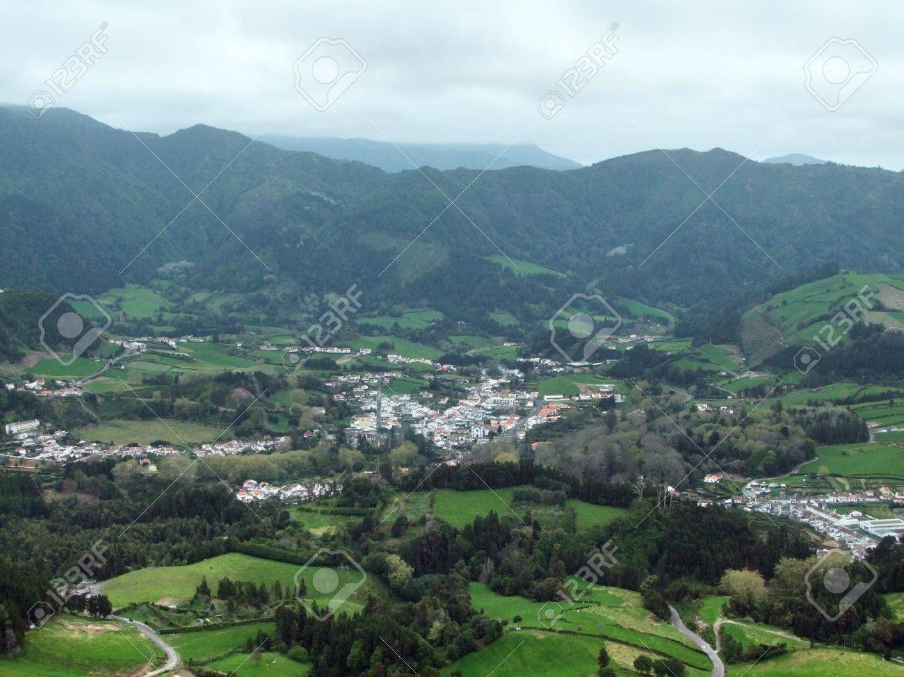 panoramic aerial view at Sao Miguel Island Stock Photo - 10914130