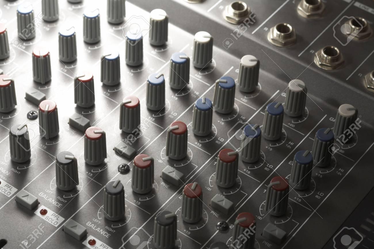 full frame detail of a studio mixer Stock Photo - 11015257