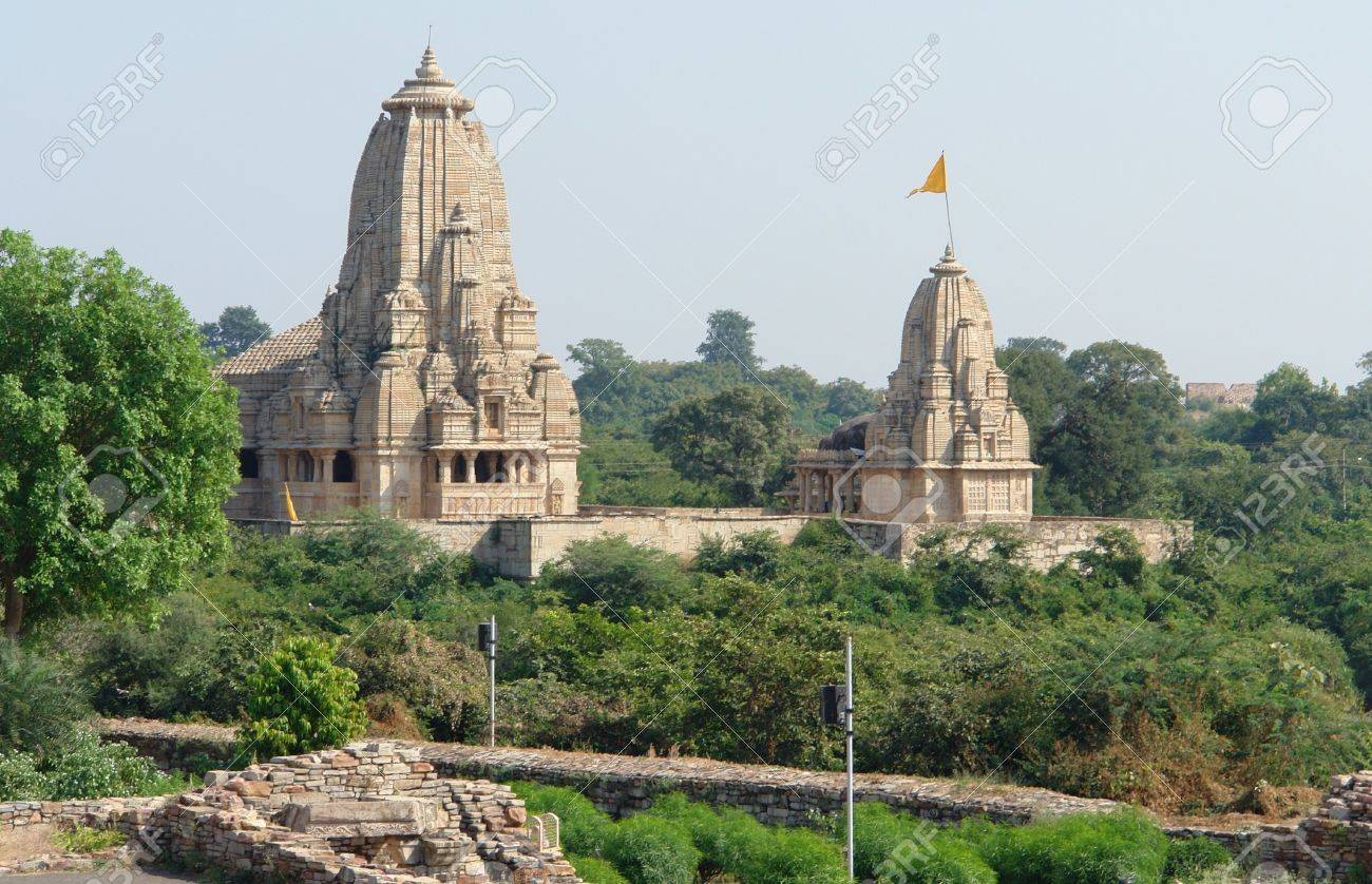 Chittorgarh Fort located in Rajasthan  India  at evening time Stock Photo - 13424673